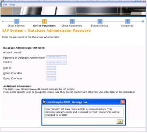 SAP Inst Database Password