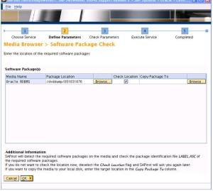 SAP Inst Software Package Check and Request 3