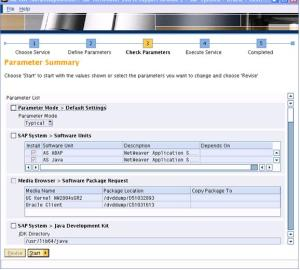 SAP Inst Parameter Summary