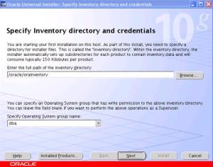 SAP BI installtion - OUI - specify Inventory and Credentials