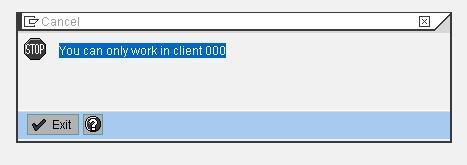SAP BI installtion - OUI - Define Unique client 1