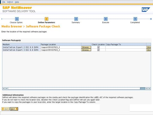 ECC6EHP4_Software delivery tool screen 7