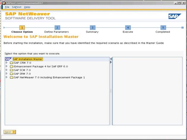ECC6EHP4_Software delivery tool screen 1