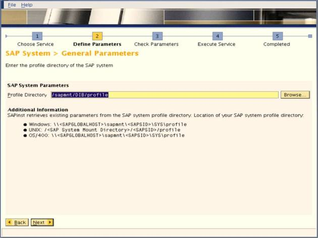 SAP NW 7.0 Export - EHP Upgrade - Profile Directory