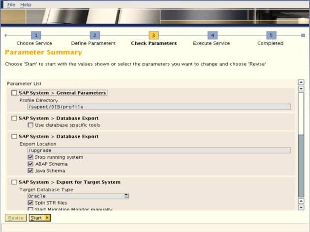 SAP NW 7.0 Export - EHP - SAPINST - Parmeter 1