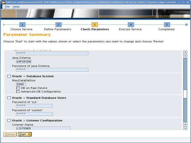 SAP NW 7.0 Export - EHP - SAPINST - Parameter Summary 6
