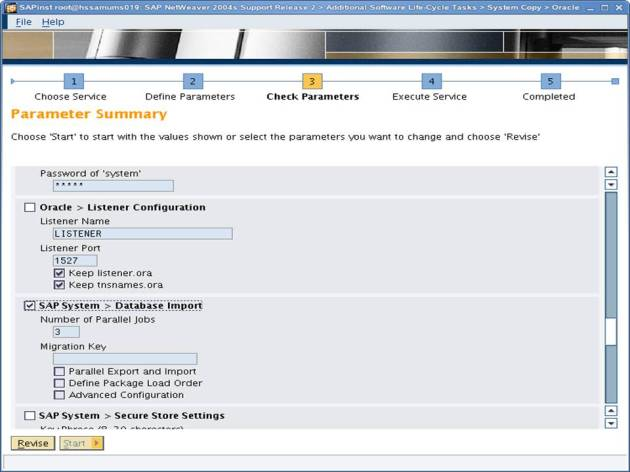 SAP NW 7.0 Export - EHP - SAPINST - Parameter Summary 7
