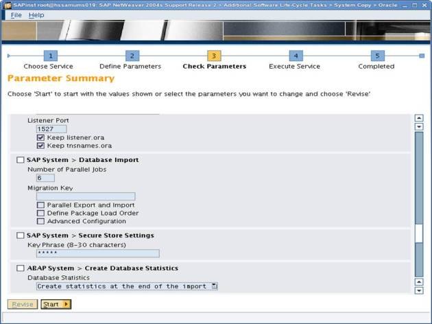 SAP NW 7.0 Export - EHP - SAPINST - Parameter Summary 8